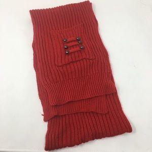 Red Scarf With Buttons